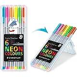 Triplus coloring pens Neon ballpoint pens, 0.3 mm, metal Clad, 6 point / PK, various colors