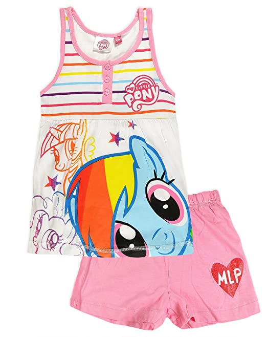 New con licencia oficial de ropa de descanso para niñas de manga corta para pijama My Little Pony | Para ilustrar estilos diferentes de fotos de madera de ...