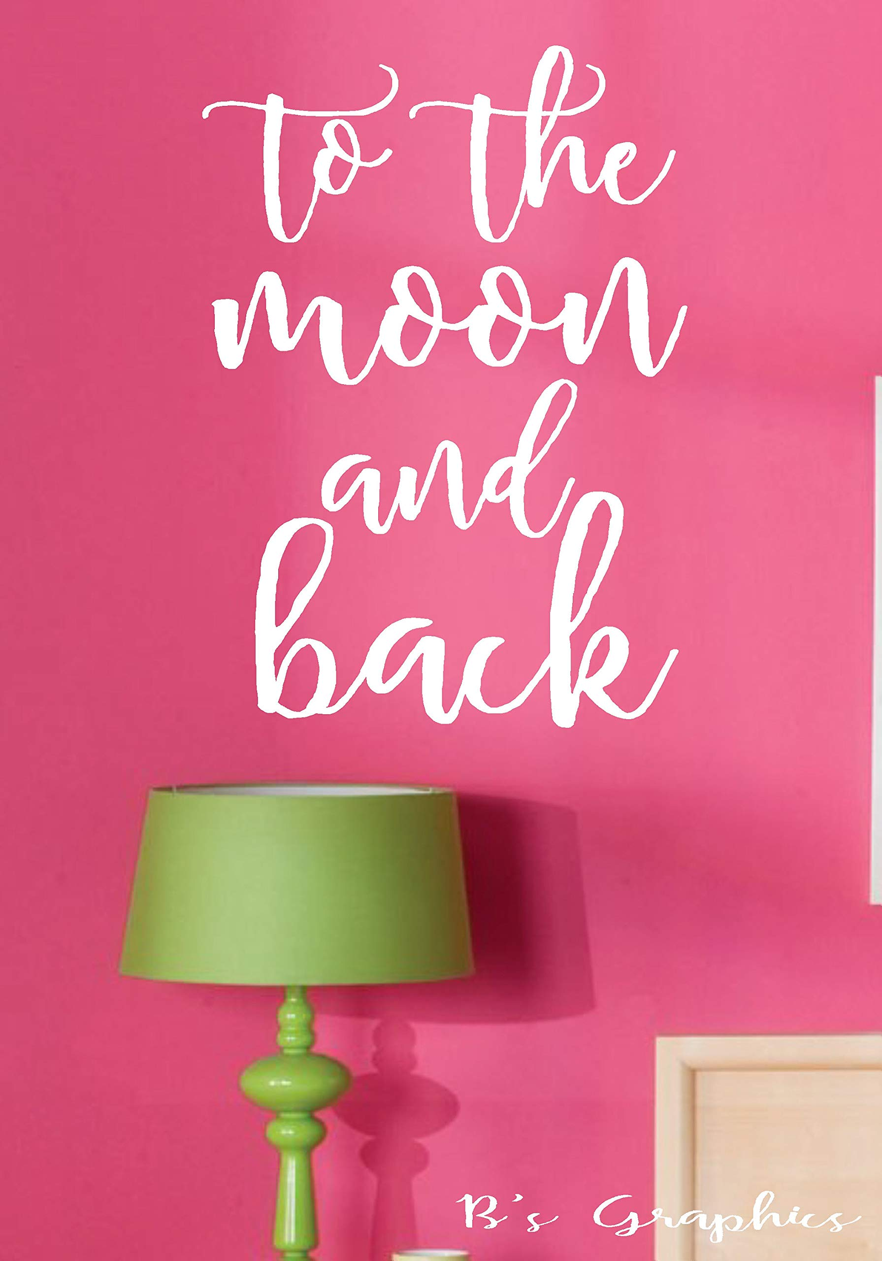 Moira to The Moon and backVinyl Wall DecalWall Quotes DecalsWords for The Wall French Country Decor Nursery Decor Farmhouse Decor