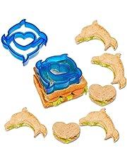 Lalang Children Sandwich Cutter, Cookie Cutter, Bread cutter Set Random color