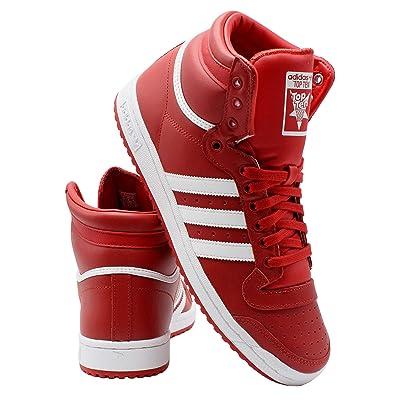adidas Mens Top Ten Sneaker, Red White, 8.5 | Fashion Sneakers