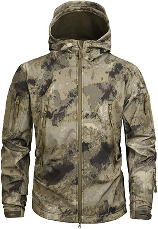 : LcnKXue Tactical Jacket Men Waterproof