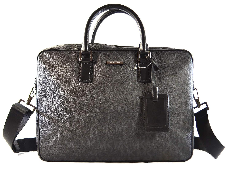 a933f521301b Amazon.com: Michael Kors Jet Set Mens Large Briefcase Computer Laptop PC  Shoulder Crossbody Messenger Bag, Black (Black): Shoes