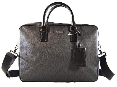 b4290cf0e6df Amazon.com: Michael Kors Jet Set Mens Large Briefcase Computer Laptop PC  Shoulder Crossbody Messenger Bag, Black (Black): Shoes