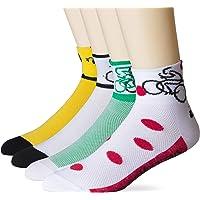 LIN 4 Pack Cycling Socks for Men & Women - Performance Moisture Wicking CoolMax Ankle Socks for Mountain Road Bike…