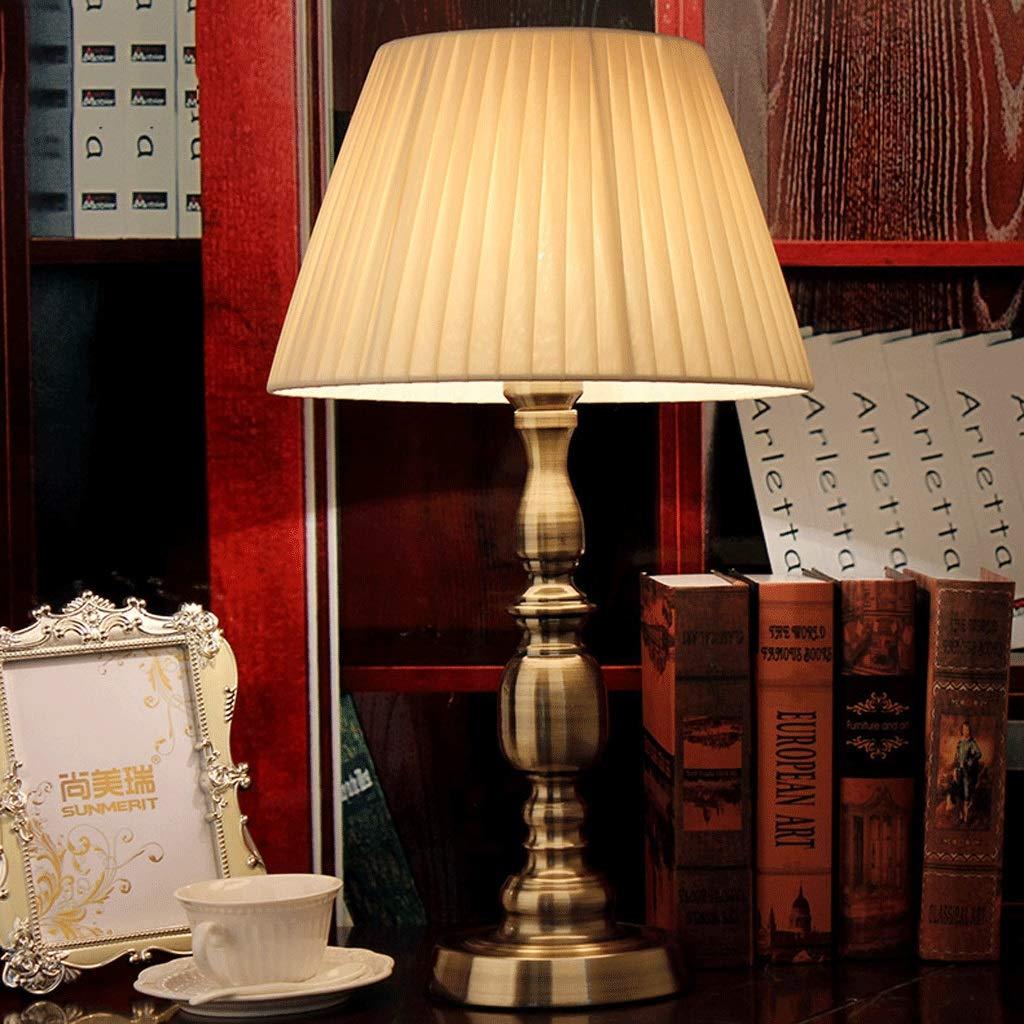 Vintage Tischlampe Schlafzimmer Nachttischlampe dekorative Tischlampe Europäischen klassischen Lampe Fernbedienung LED Auge Leselampe