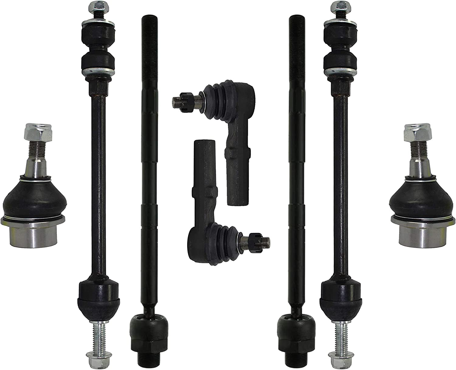PartsW 2 Pc New Suspension Kit for Dodge Ram 1500 2002-2005 Front Sway Bar End Links 4WD Models Only