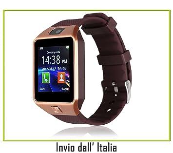 Montre connectée Android, Smart Watch Téléphone avec sim card slot caméra OLED montre Fitness Sport Android ...