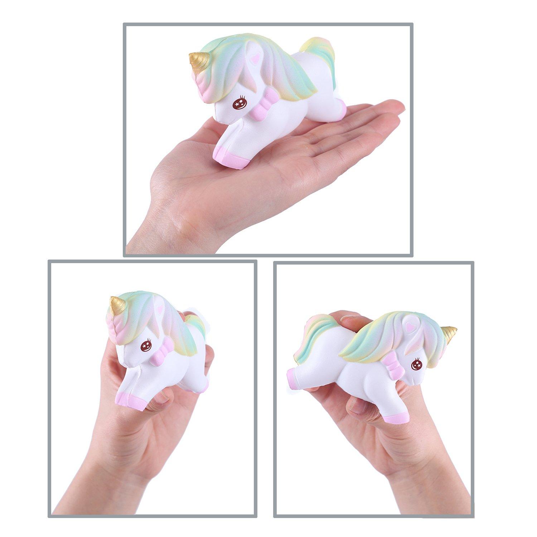 Vigeiya Unicorn Squishy Squishies Slow Rising Small Toy Prime Kawaii Animal