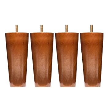 Buy Sofa Legs Set Of 4 Round 5 Inch Replacement Solid Wood