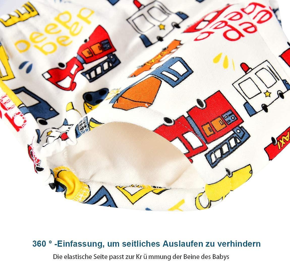 Bumplebee wasserdichte Baumwolle Windelhosen Kinder Unisex Baby Bunte Tier Druck Trainingshose Wickeln von Windeln Waschbar Urin-Unterlage f/ür 0-8 Jahre Kleinkinder