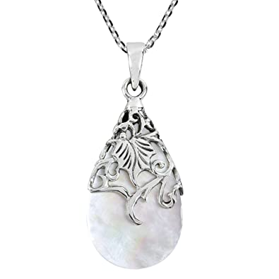 Learned 925 Sterling Silver Antiqued Religious Teardrop Polished Charm Pendant Reasonable Price Precious Metal Without Stones