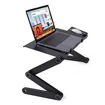 360°Adjustable foldable laptop Notebook Desk Table Fan Hole Stand Bed Tray**