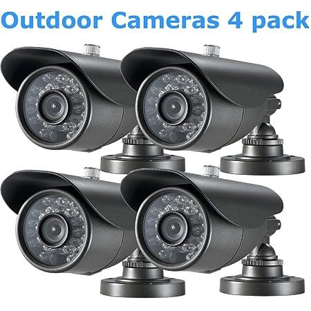 iSmart C1010DP7 CMOS 4 Pack IR Bullet Security Outdoor Weatherproof 700TVL CCTV Surveillance Camera 4 pack