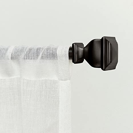 exclusive home curtains napoleon 1 curtain rod and coordinating finial set 66 120 matte bronze