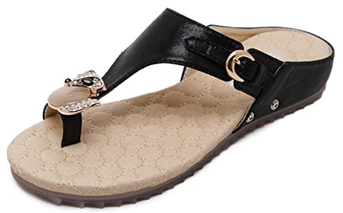 308f6fc414120 front view bling out flat sandals in black 50% off 724a3 de3f6 ...
