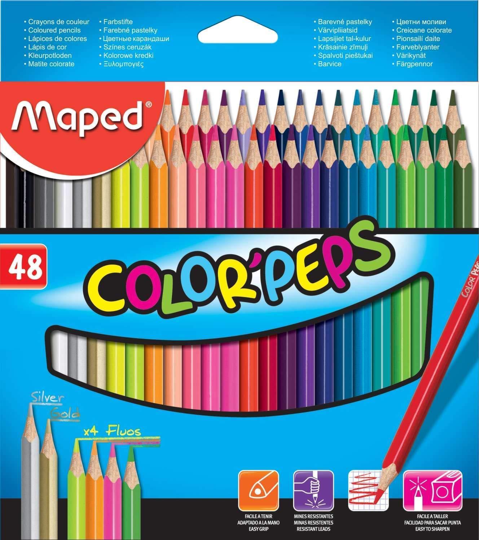 Maped Color Peps Color Pencil Set - Pack of 48 (Multicolor) (B07NRXDM46) Amazon Price History, Amazon Price Tracker