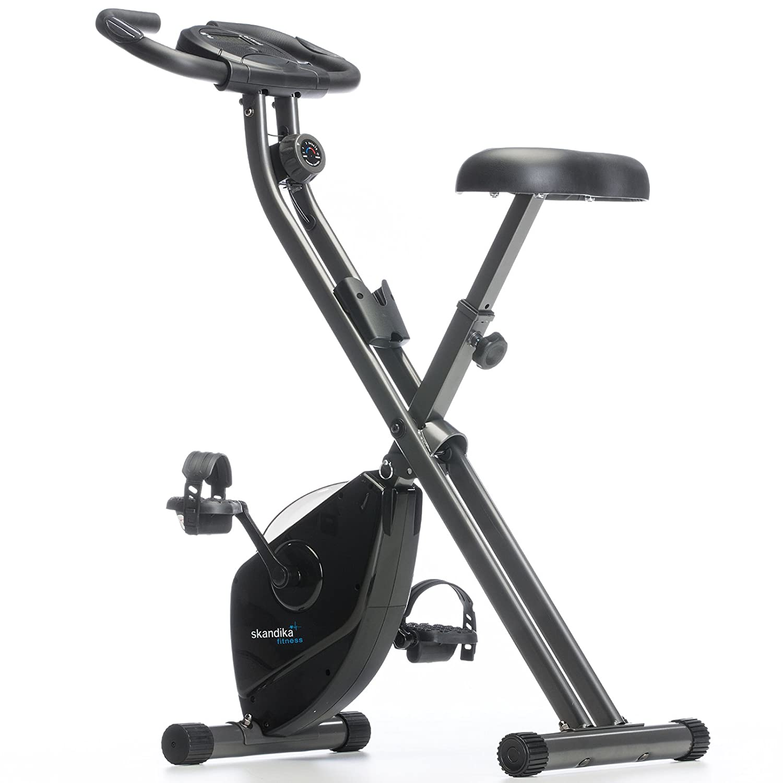Skandika Foldaway X de Fitness Bicicleta Estática Plegable con sensores de pulso