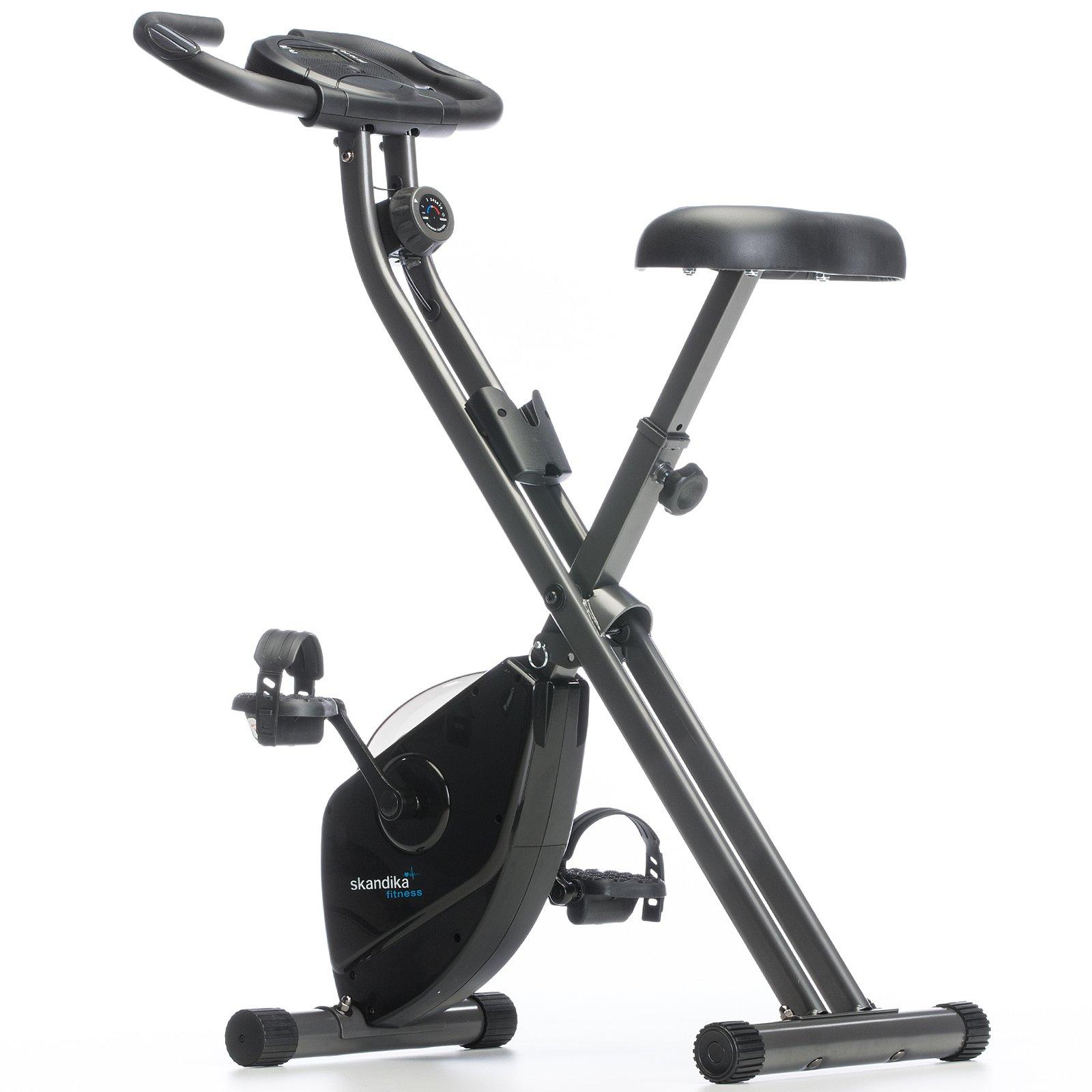 Skandika Foldaway X de 1000 Fitness Bicicleta Estática Plegable con sensores de pulso de mano,