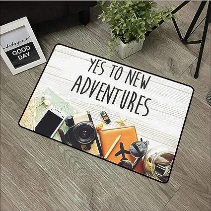 Amazon.com: Fakgod - Felpudo, diseño de aventura con texto ...
