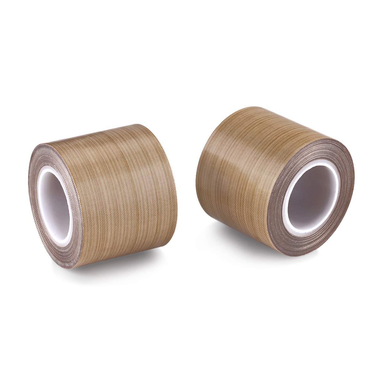 PTFE Coated Fiberglass Telfon Tape,high Temperature Tape;Drying Mechanical Conveyor Belt; Welding Sealing Tape; -196℃ +300℃ /… Shanghai Sencol Technology Co Brown, 25mm x 12yards x 0.18mm LTD ST-TELFON-02