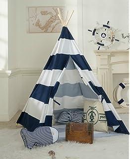 Amazon Com Dalosdream Teepee Tent For Kids 100 Natural Cotton