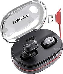 2ba15233c6f Bluetooth Headphones DACOM True Wireless Earbuds with mic Balanced Bass  Stereo Mini Earphone Extra Lightweight Cordless