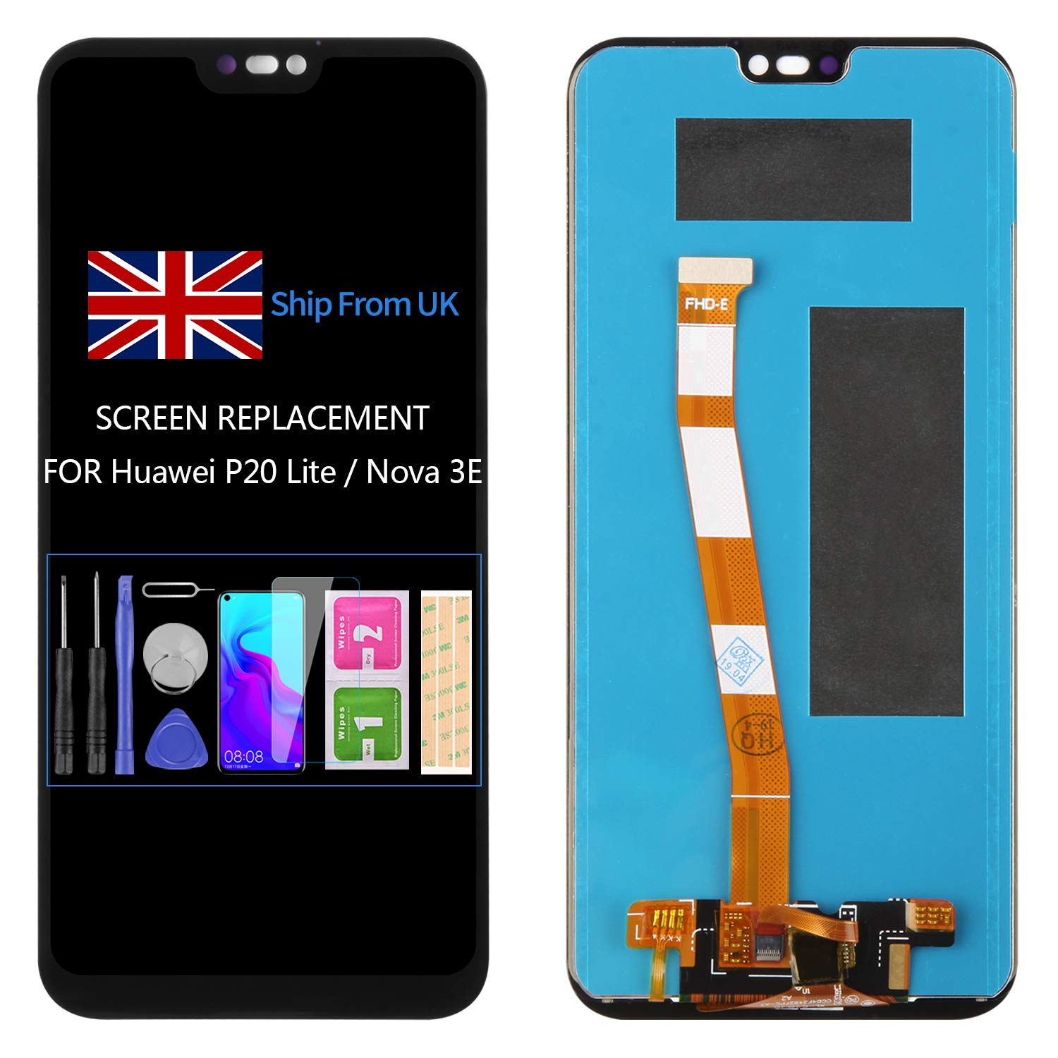 for Huawei P20 Lite Screen Replacement LCD Display Touch Screen ...