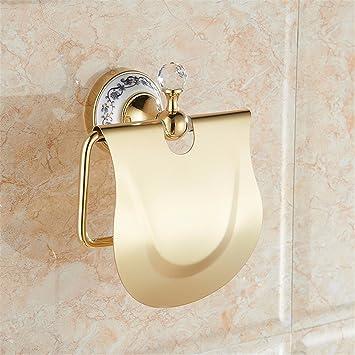 Accesorios de Baño Set/montado en Pared/Navidad Oro de Estilo Europeo de Porcelana Azul y Blanco Cristal Accesorios de baño, Papel higiénico, Cepillo ...