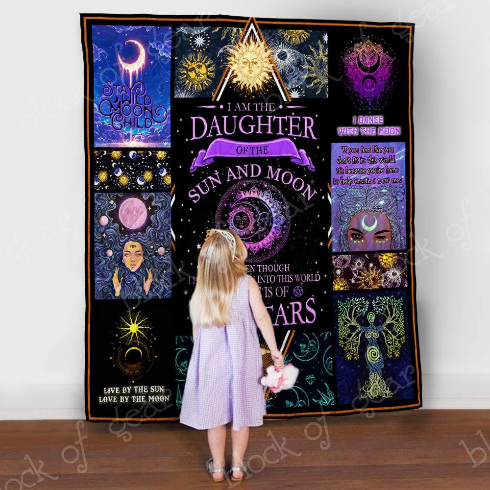 Daughter of Sun and Moon Quilt 2019, Queen All-Season Quilts Comforters with Reversible Cotton King/Queen/Twin Size - Best Decorative Quilts-Unique Quilted for Gifts
