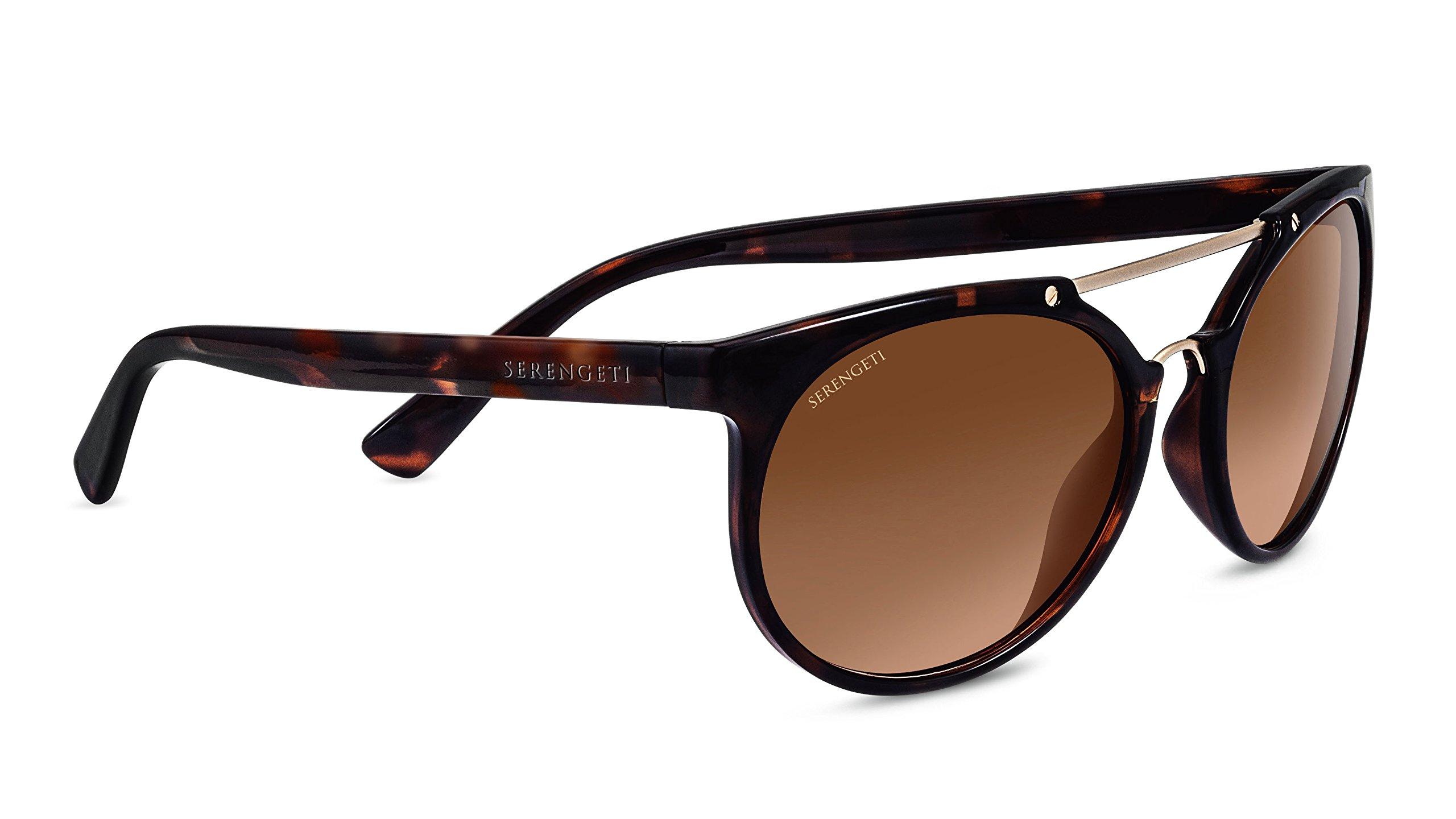 Serengeti 8352 Lerici Drivers Gradient Sunglasses, Shiny Tortoise Frame/Satin Soft Gold by Serengeti (Image #1)