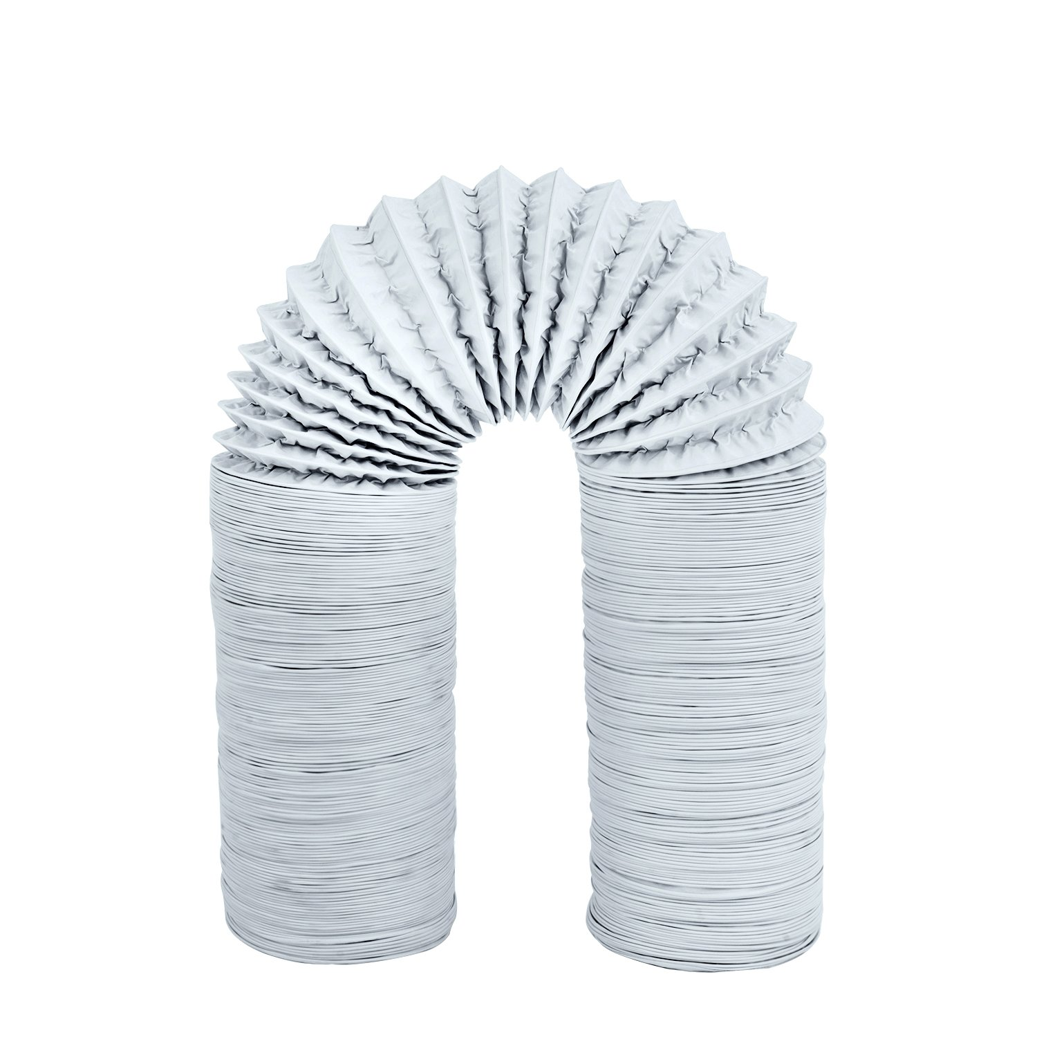 Hon&Guan 5 inch Air Duct - 16 FT Long, Flexible Ducting HVAC Ventilation Air Hose For Grow Tents, Dryer Rooms,Kitchen