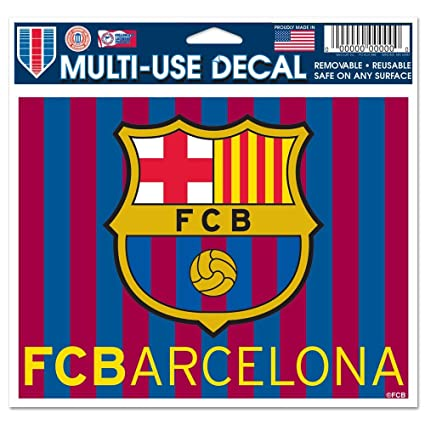 Fc Barcelona Stickers.Amazon Com Fc Barcelona Wincraft Sports Removable Ultra