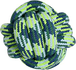 HOUZE OPT-153 Pet Toys Knotted Ball, Small, Blue