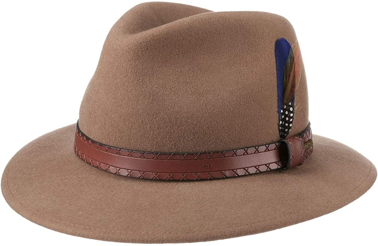 Stetson Sombrero de Fieltro Terrick Traveller Hombre - Lana Lluvia con Banda Piel otoño/Invierno