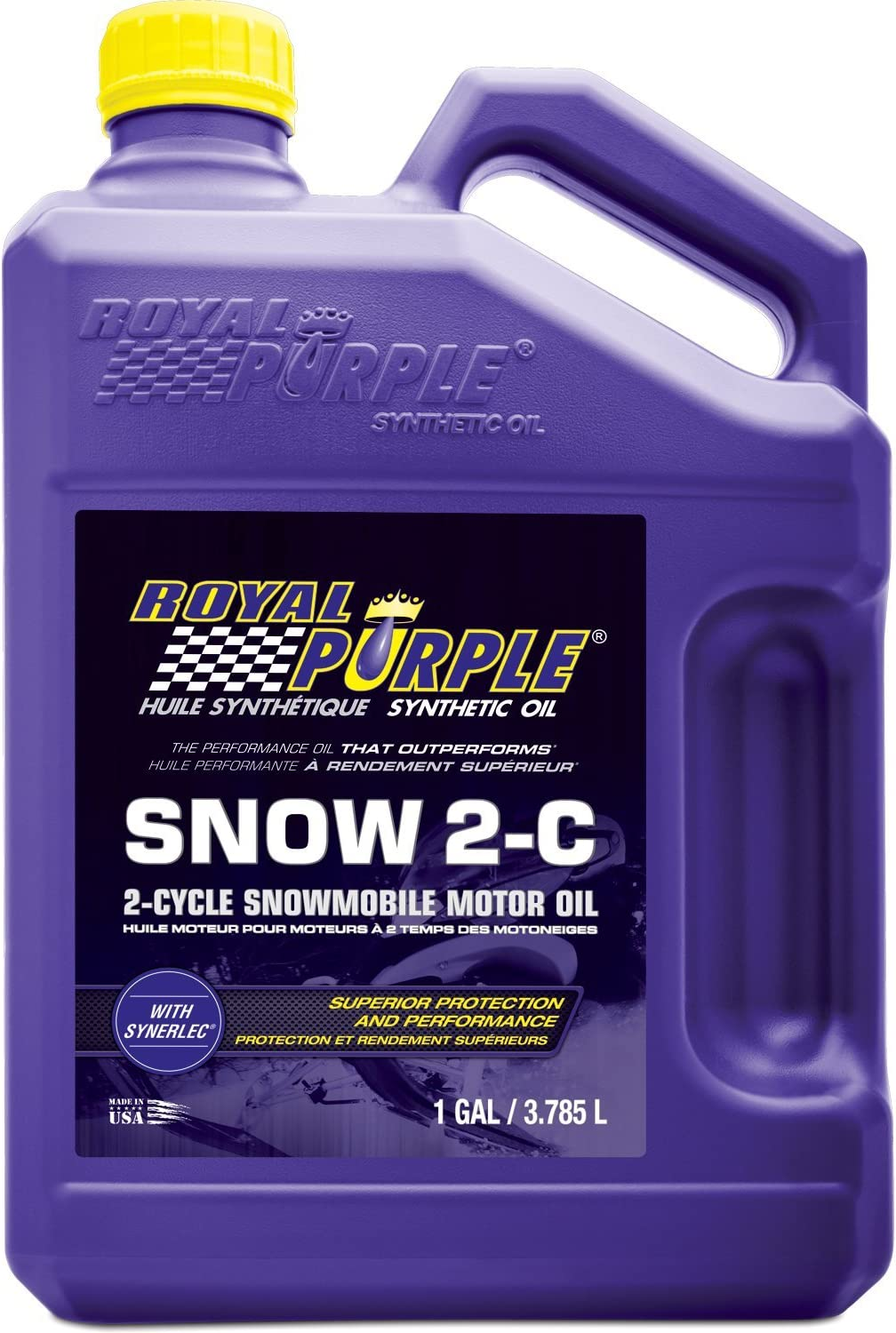 Royal Purple 04511 Snow 2-C High Performance Synthetic 2-Cycle Snowmobile Oil - 1 Gallon