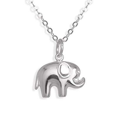 Sterling silver elephant pendant necklace 16 inches all seasons sterling silver elephant pendant necklace 16 inches aloadofball Image collections