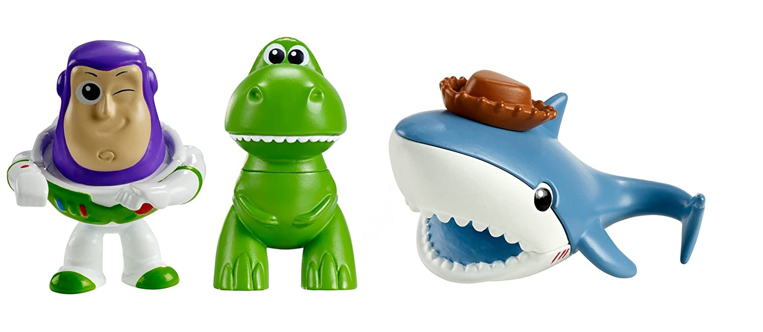 3 Pack 2 2 DXC57 Toy Story Disney//Pixar Minis Buzz Sharky /& Rex Figure