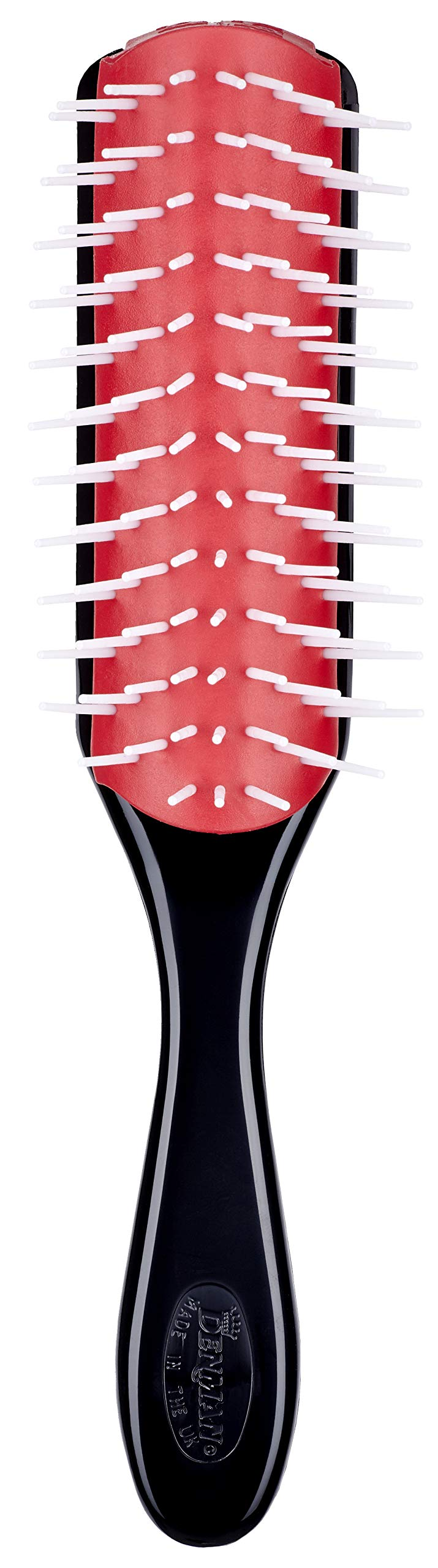 Denman 9 Row D41 Women Styling Large Hair Brush for Detangling & Volumizing - Anti-static Rubber Pad - Nylon Bristle by Denman