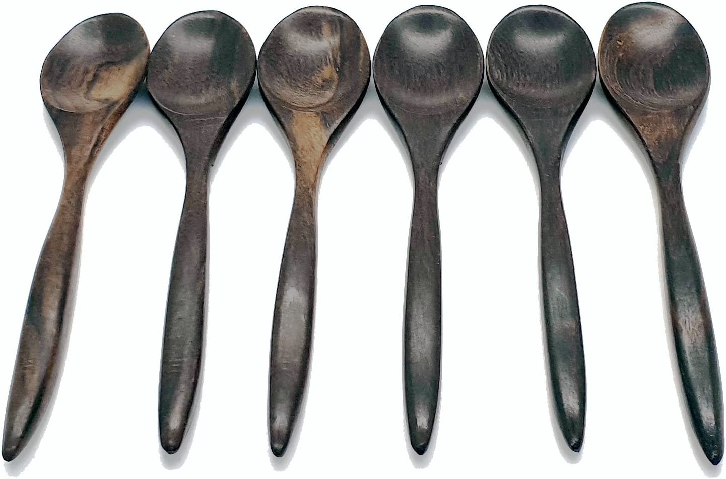Set of 6 Hand Made Vegan 100/% Natural Size:4inch Vie Gourmet Coconut Spoons Beautifully Handcrafted from Reclaimed Coconut Shells Lightweight /& Durable for Serving Eco Friendly Decoration