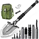 Zune Lotoo Annihilate Tactical Shovel Camping(F-A3),6 Shifts with One Button Military Multifunctional Shovel,Folding…