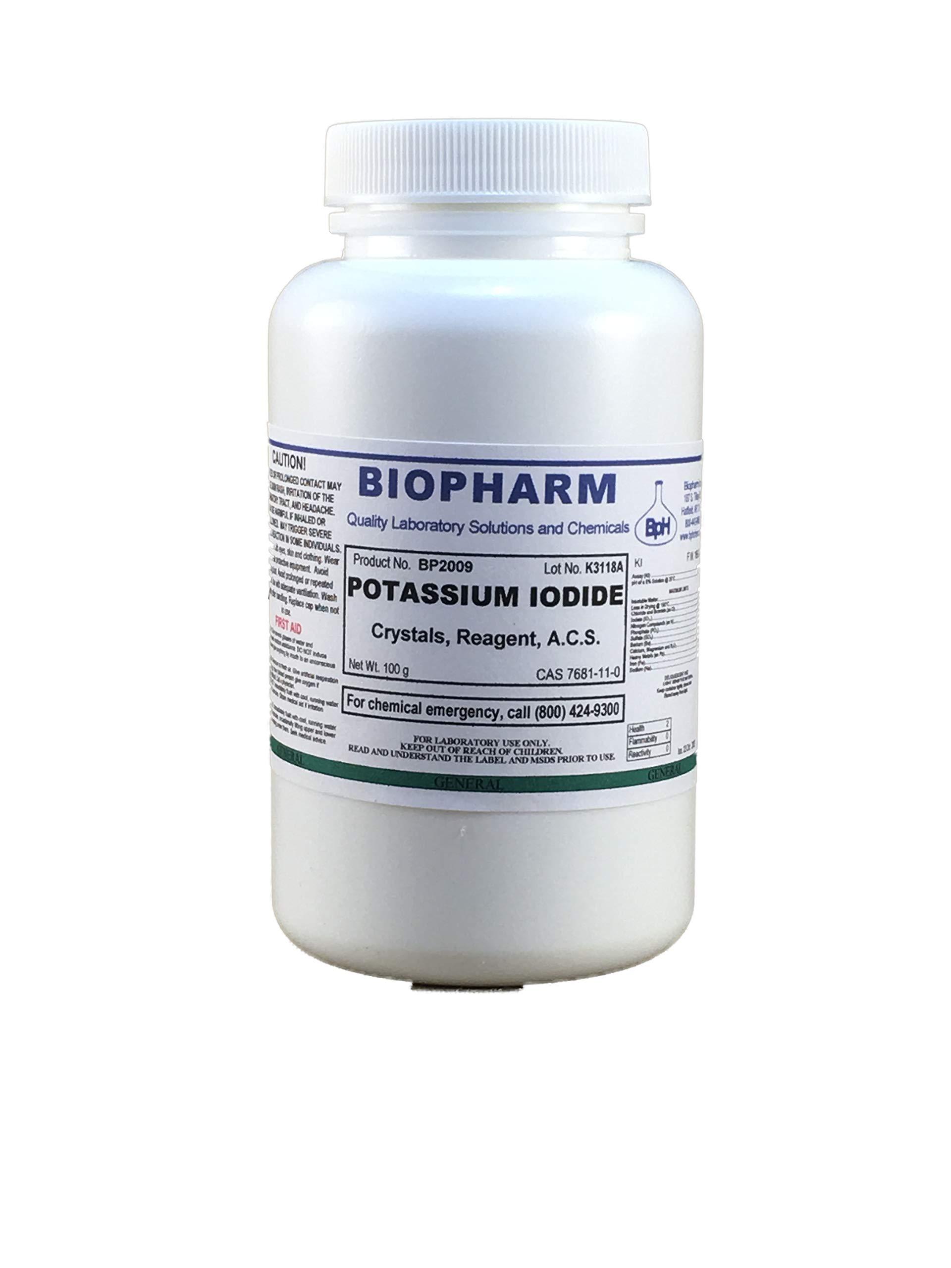 Potassium Iodide Crystals, Reagent, ACS 100 Grams
