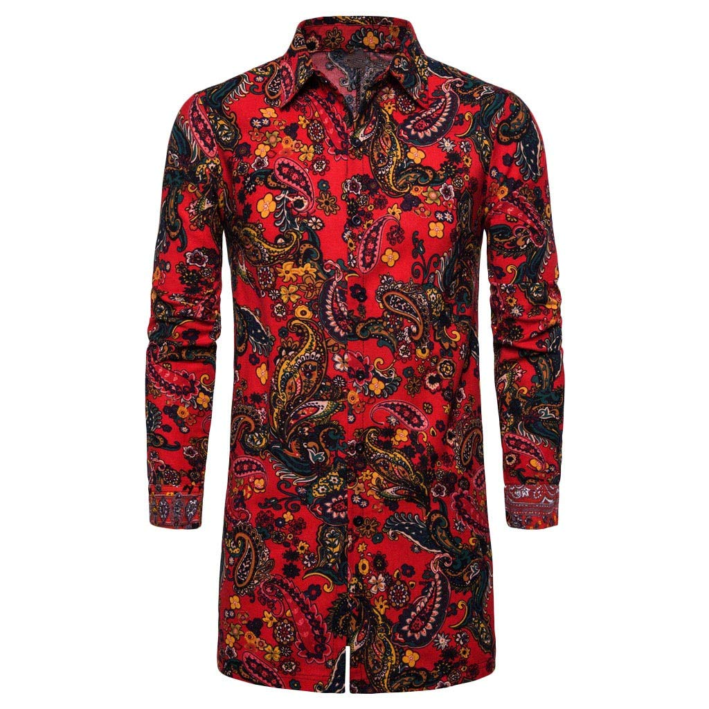 HomeMals Men/'s Casual Slim Fit Shirts Pure Color Long Sleeve Polo Fashion T-Shirts