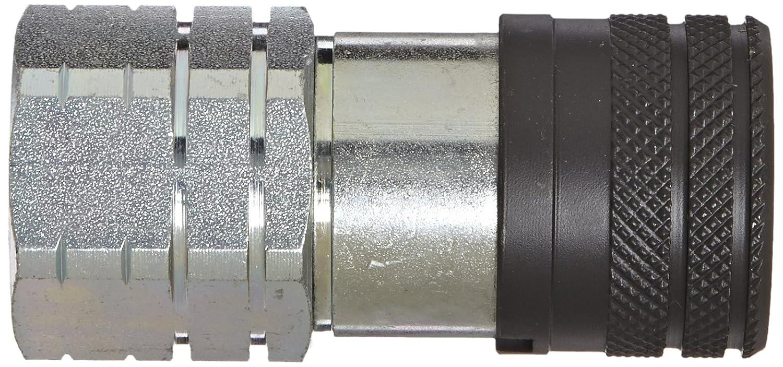 Female Flat Face Eaton Hansen 12FFS50 Steel Hydraulic Quick Coupler 1//2 NPT