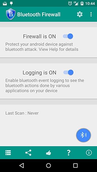 Bluetooth Firewall Trial