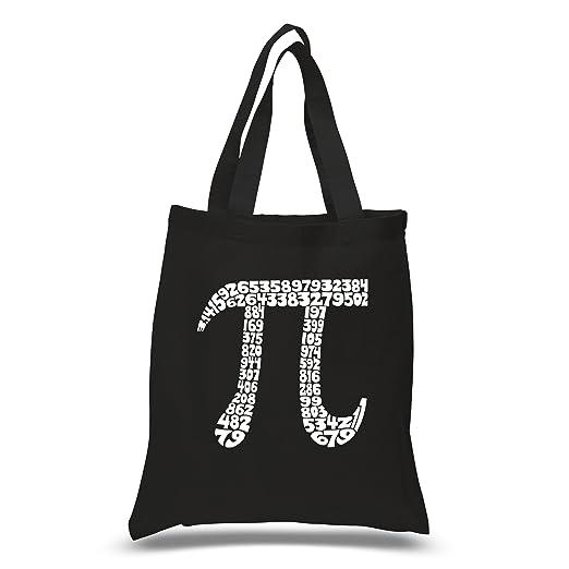 3fbd6ab16c Amazon.com  LA POP ART Word Art S Tote Bag - The First 100 Digits of Pi  Black  Clothing