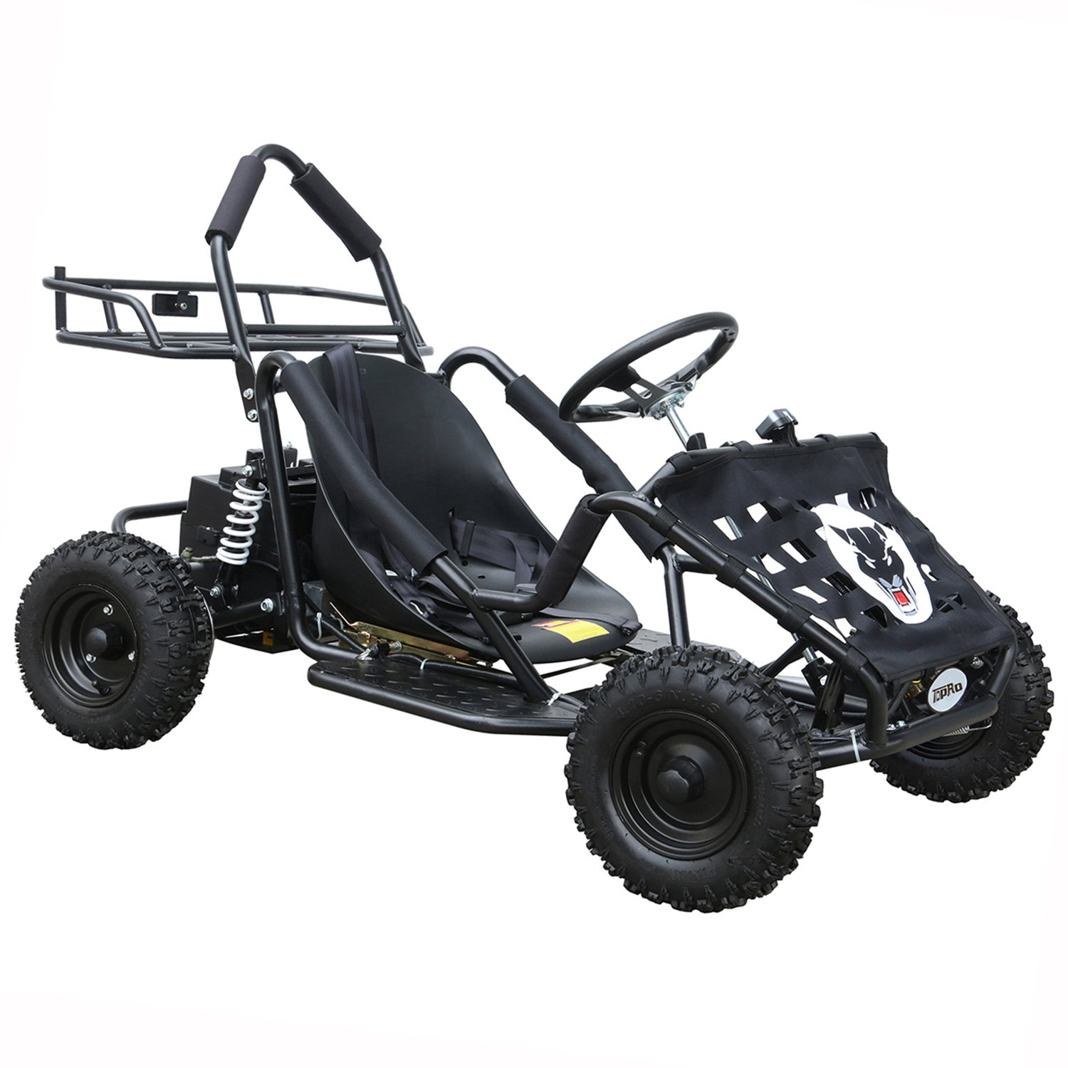 JCMOTO Electric Go Karts For Kids 4 Four Wheelers Off Road Tire 48v 1800w Black (Upgraded versions) by JCMOTO (Image #1)