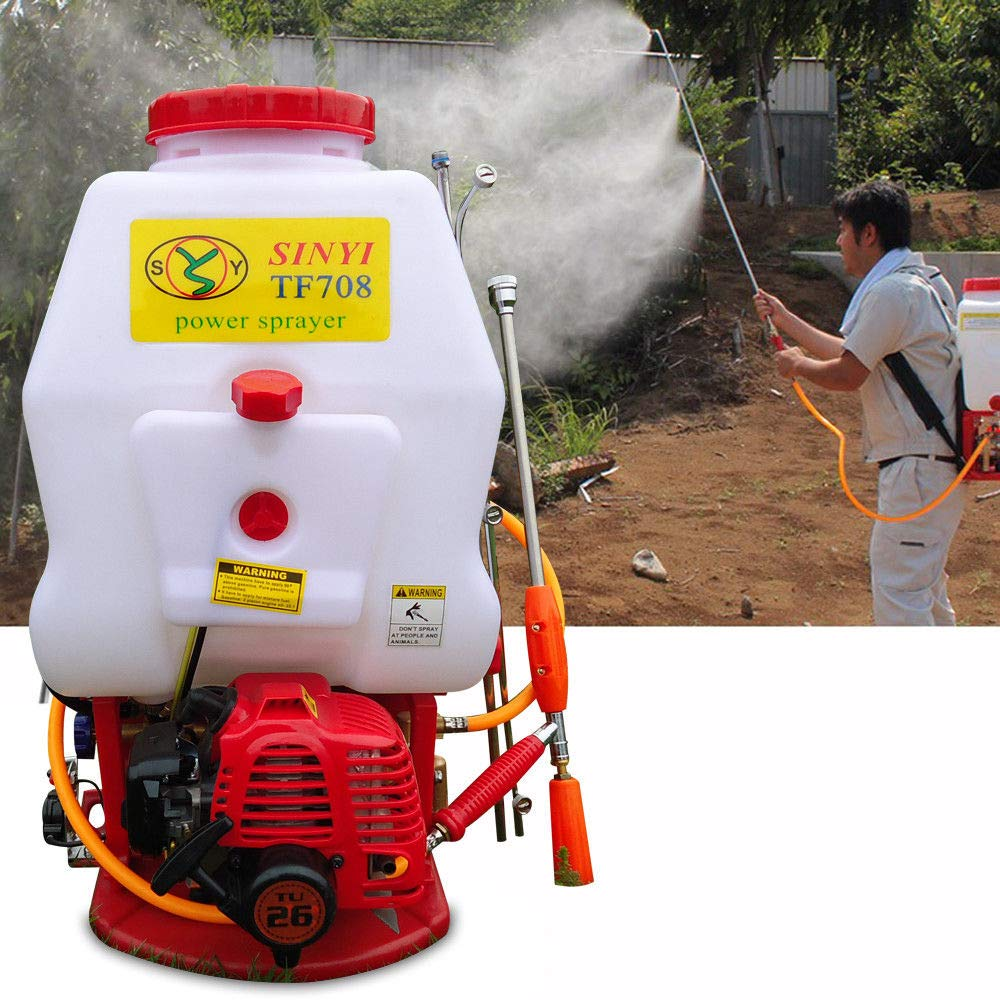 BoTaiDaHong 4-Gallon Backpack Sprayer Agri-Cultural Mist Dus-TER Gasoline Powered PES-ticide Gardening Professional Knapsack Sprayer Plants Pump Pe-st Control CDI Ignition System 20L by BoTaiDaHong