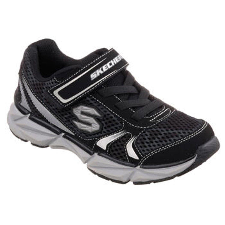 Skechers Boy's Geo-Daunt Athletic Turnschuhe (12 schwarz Silber)