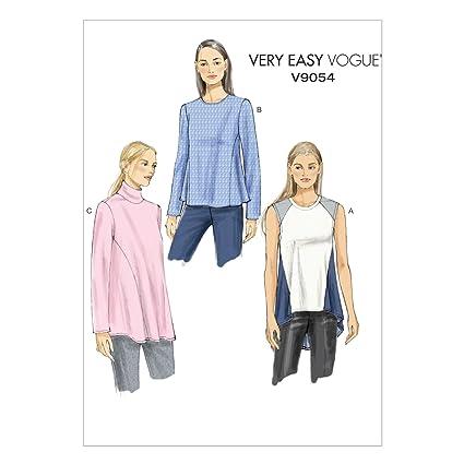 Vogue V9054 costura para confeccionar blusas, trajes, vestidos, moda, VGE 9054 B5